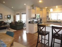 Open Concept Kitchen Dining Room Addition Becomes Hearth Of The Open Concept Living Room Dining Room And Kitchen