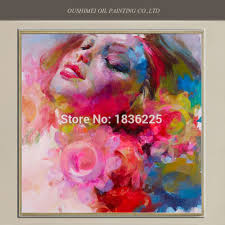oil painting famous painter abstract drawings colorful painting modern sleeping beauty woman portrait designer home decor