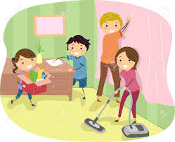 family room clipart. family helping each other clipart room
