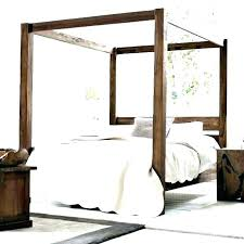 Wood Canopy Bed Frame S King – getvue