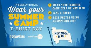 International Wear Your <b>Summer</b> Camp <b>T</b>-<b>Shirt</b> Day