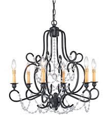 crystorama orleans 6 light chandelier in black iron 9336 bk photo