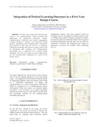 Design To Learn Communication Matrix Pdf Integration Of Desired Learning Outcomes In A First