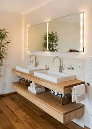 bathroom design ideas open shelf below the countertop dual sinks sit above a