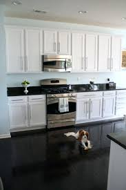 Kitchens With White Cabinets And Dark Floors And White With White