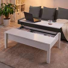This walnut coffee table is visually pleasing and allows you to eat, drink, or work at a comfortable level by raising the tabletop's three different sections. Trulstorp Coffee Table White 45 1 4x27 1 2 Ikea