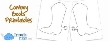 Cowboy Boots Printable Coloring Page Printable Treatscom