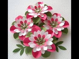 Paper Art Flower Easy To Make A 3d Paper Flower Art With In Minutes Youtube