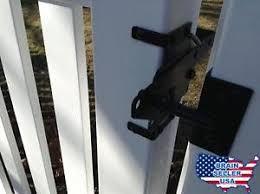 Vinyl fence gate latch Unusual Image Is Loading Vinylfencegatelatchbynationwideindustriesnew Ebay Vinyl Fence Gate Latch By Nationwide Industries New Free Ship Ebay