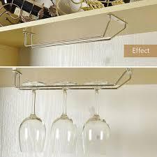 under cabinet storage organizer stainless steel glass holder wall mounted stemware rack