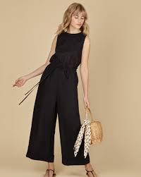 Linen drawstring waist jumpsuit — <b>12Storeez</b>