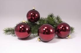 4 Große Weihnachtskugeln 10cm Stierglanz Uni Onlineshop