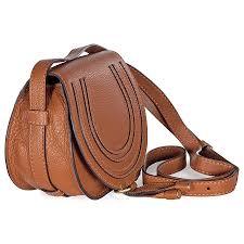 chloe mini marcie tan leather round cross bag