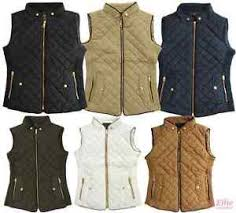 Women's Quilted Padded Vest black/cognac/navy/khaki/olive Sizes S ... & Image is loading Women-039-s-Quilted-Padded-Vest-black-cognac- Adamdwight.com