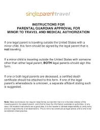 Child Medical Consent Form For Grandparents Child Permission To Travel With Grandparents Minor Consent Letter 1
