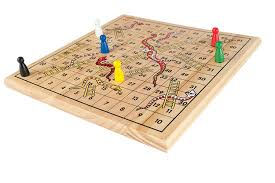 Classic Wooden Board Games Traditional Wooden Snakes and Ladders Gamez Galore 20