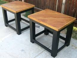 oak coffee table and end tables over sized coffee table and end tables made from re