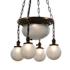sold inverted dome chandelier with original hand cut shades antique lighting