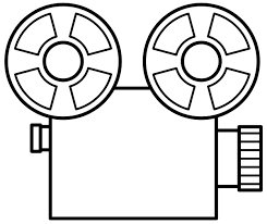 Small Picture Movie Reel Coloring Coloring Pages