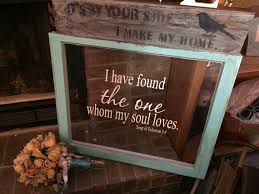 Song Of Solomon Quotes 50 Inspiration ON SALE Old Wood Windows Vinyl Quote Window Wedding Window