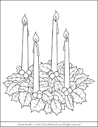Advent Wreath Coloring Page New Pages Ideas Of Free Printable