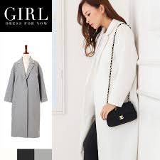 jacket casual dress dress black white gray pocket in coat chester coat lady s long coat outer
