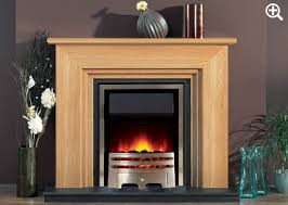 light oak finish with focusflame stainless grace fire