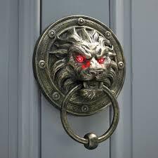 cool door knockers. Creepy Lion Door Knocker WIth Glowing Eyes Cool Knockers N