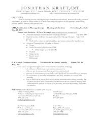 Objective Example For Resume Resume Templates