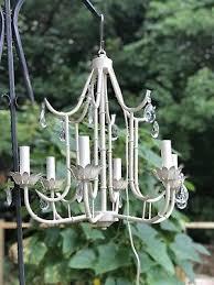 hollywood regency faux bamboo italian tole chandelier vintage lighting