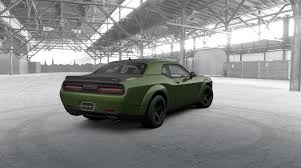 2018 dodge green. brilliant 2018 dodge 2017 rear view 2018 srt challenger demon in f8 green with  painted black satin gu2026 challenger  car picture galleries and dodge green