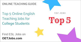 Top 5 Online English Teaching Jobs For College Students