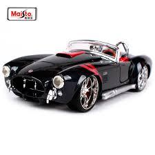 <b>Maisto 1:24</b> Ford <b>1965</b> Shelby Cobra 427 <b>Diecast</b> Model Car Toy ...