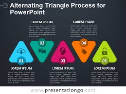free alternating triangle process for powerpoint dark background