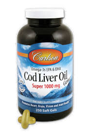 Carlson Cod Liver Oil 1000 mg Softgels, 250 CT - QFC