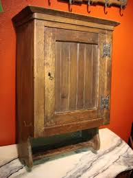 antique french rustic medicine cabinet