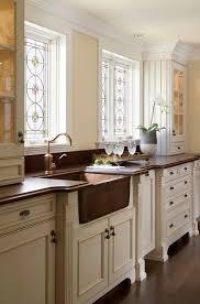 copper farmhouse sink boston kitchen