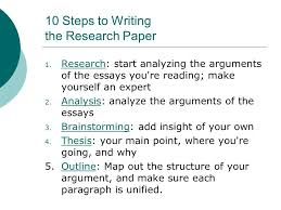 steps to writing an essay ppt 10 steps to writing the research paper