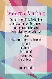 Art Event Flyer Modern Art Gala Reception Event Flyer Invitation Poster