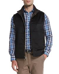 Peter Millar Greenwich Wool-Cashmere Quilted Vest, Black &  Adamdwight.com