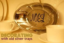 Decorating With Silver Trays Trash to Treasure Decorating with Old Silver Trays Yankee Homestead 55