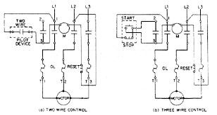 power systems > design reference > relay handbook a two wire control is generally thought of in relation to a pilot device such as a thermostat pressure switch etc or to a simple maintained spdt