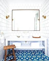blue and white floor tile square white tile dark grout mounted floor to ceiling bright blue blue and white floor tile cement tile bathroom