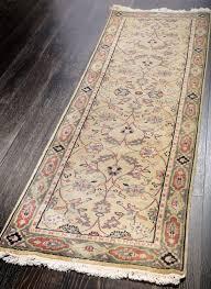 rugsville traditional fl vines gold green runner rug 80x240