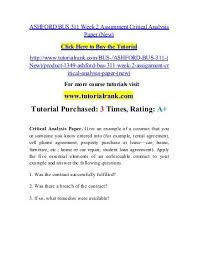 Student Agreement Contract BUS 311 Week 2 Assignment Critical Analysis Paper.pdf /Tutorialoutlet