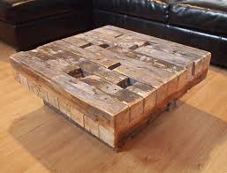 reclaimed wood coffee table beam