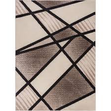 well woven mystic broadway brown 8 ft x 10 ft bold shapes lines art