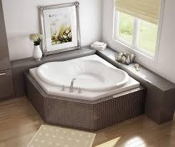 nancy 54 in x 54 in acrylic bathtub with center drain