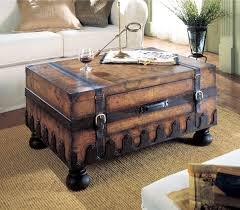 vintage steamer trunk coffee table