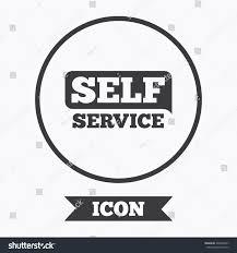 Self Design Sign In Self Service Sign Icon Maintenance Button Stock Vector